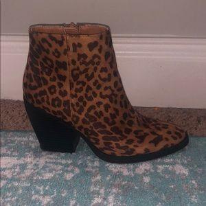 Madden girls leopard booties.